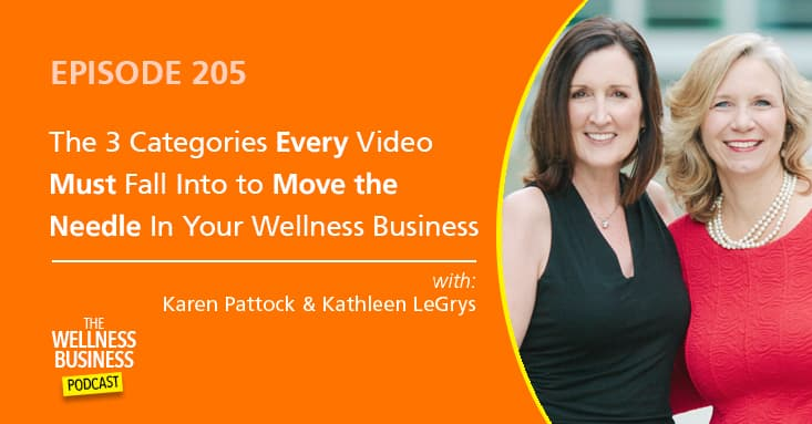The 3 Categories Every Video Must Fall Into To Move the Needle In Your Wellness Business